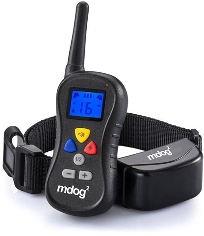 MDOG2 MD2-008 Wireless Dog Remote Training Collar with Shock, Vibration and Tone - Peazz.com - 1