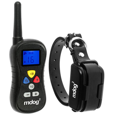 MDOG2 MD2-018 330 Yard Rechargeable Remote Control Remote Training Collar with Safe Beep, Vibration and Shock - Peazz.com - 1