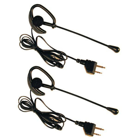 Midland AVP1 2-Way Radio Accessory (Over-the-ear microphone headsets with PTT dual pin jacks) - Peazz.com