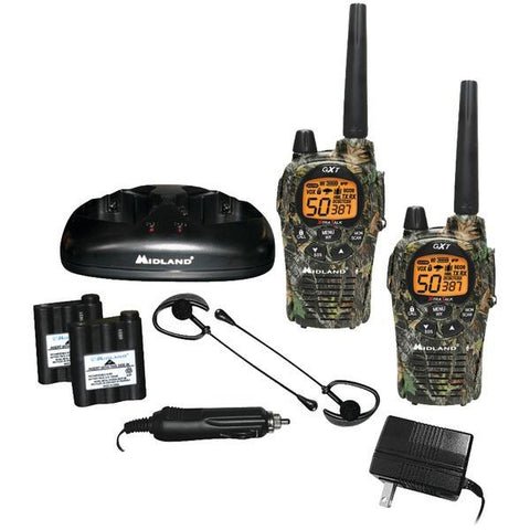 Midland GXT1050VP4 36-Mile Camo GMRS Radio Pair Pack with Drop-in Charger & Rechargeable Batteries - Peazz.com