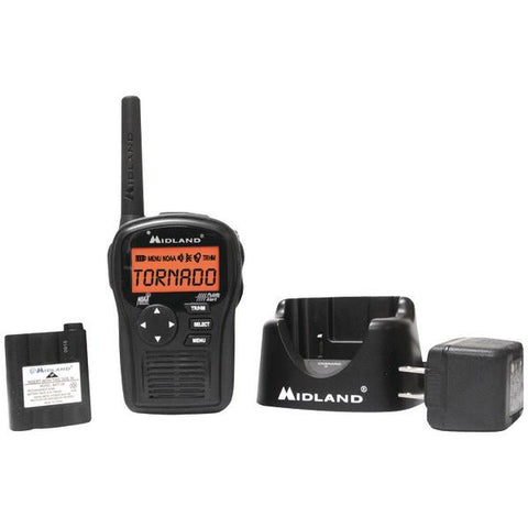 Midland HH54VP2 SAME All-Hazard Handheld Weather Alert Radio (Includes Drop-In Desktop Charger & Battery) - Peazz.com