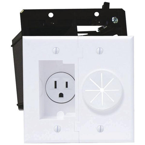 MIDLITE 2A5251-W Power+Port Recessed Receptacle Kit - Peazz.com