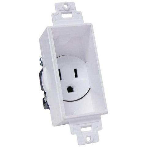 MIDLITE 4641-W Single-Gang Décor Recessed Receptacle - Peazz.com