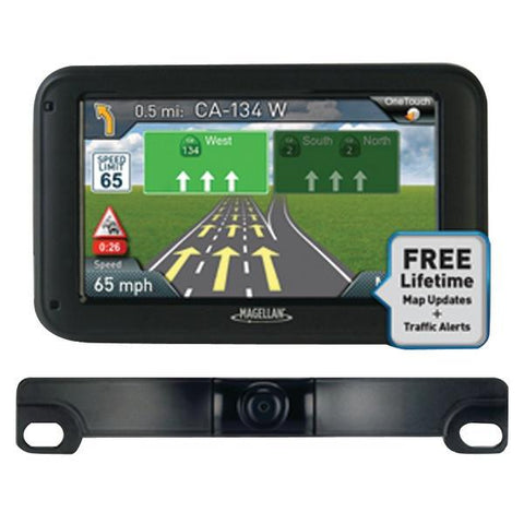 "Magellan RM5255SGBUC RoadMate 5255T-LM 5"" GPS Device with Backup Camera & Free Lifetime Maps & Traffic Updates - Peazz.com"