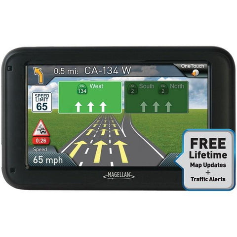 "Magellan RM5375SGLUC RoadMate 5375T-LMB 5"" GPS Device with Bluetooth & Free Lifetime Maps & Traffic Updates - Peazz.com"