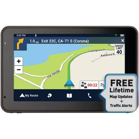 "Magellan RM5465SGLUC RoadMate 5465T-LMB 5"" GPS Device with Bluetooth & Free Lifetime Maps & Traffic Updates - Peazz.com"