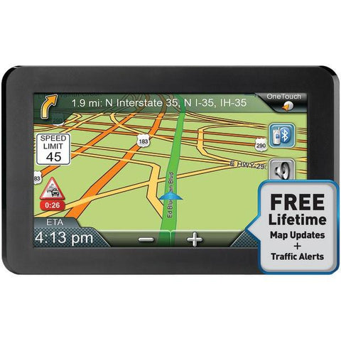 "Magellan RM9465SGLUC RoadMate 9465T-LMB 7"" GPS Device with Bluetooth & Free Lifetime Maps & Traffic Updates - Peazz.com"
