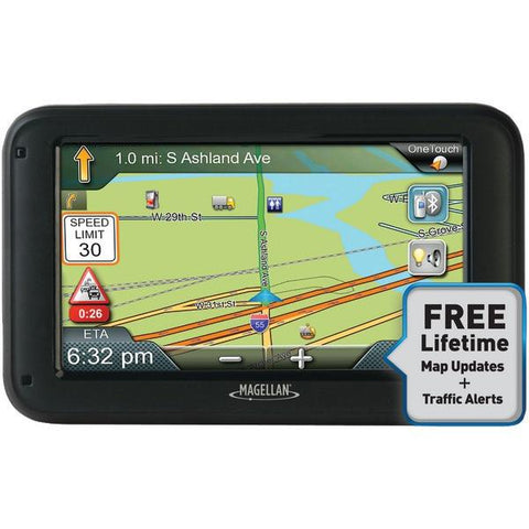 "Magellan RC5370SGLUC RoadMate Commercial Truck 5370T-LMB 5"" GPS Device with Bluetooth & Free Lifetime Maps & Traffic Updates - Peazz.com"