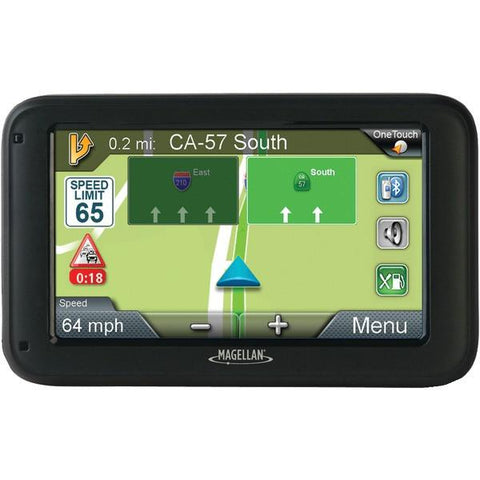 "Magellan RM2255SGLUC RoadMate 2255T-LMB 4.3"" GPS Device with Bluetooth & Free Lifetime Maps & Traffic Updates - Peazz.com"