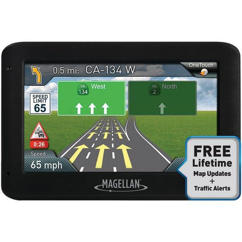 "Magellan RM2535SGLUC RoadMate 2535T-LM 4.3"" GPS Device with Free Lifetime Maps & Traffic Updates - Peazz.com"