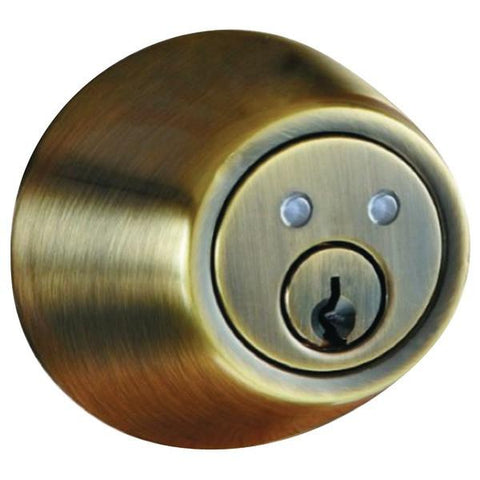 Morning Industry Inc. RF-01AQ RF Remote Control Dead Bolt (Antique Brass) - Peazz.com