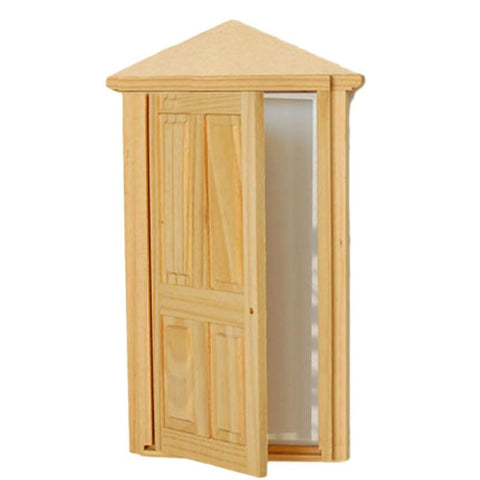 Merske MK10019 Dollhouse Miniature Furniture 4-Panel Exterior Wooden Door - Peazz.com - 1