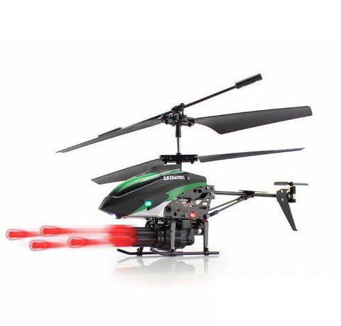 Merske MK10031 Missile Launching 3.5Ch Rc Remote Control Helicopter with Gyro - Green - Peazz.com - 1