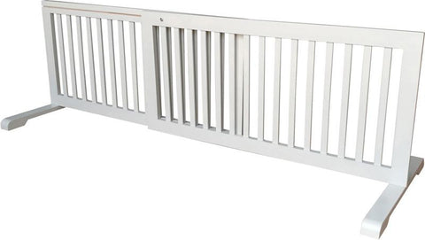 MDOG2 MK814-721GRY Free Standing Step Over Gate - Grey - Peazz.com - 1