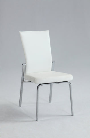 Chintaly MOLLY-SC-WHT Motion Back Side Chair ( Set of 2 )