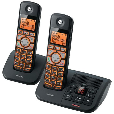 Motorola K702B DECT 6.0 Cordless Phone System with Caller ID & Answering System (2-Handset System) - Peazz.com