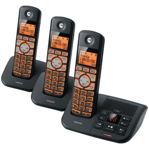 Motorola K703B DECT 6.0 Cordless Phone System with Caller ID & Answering System (3-Handset System) - Peazz.com