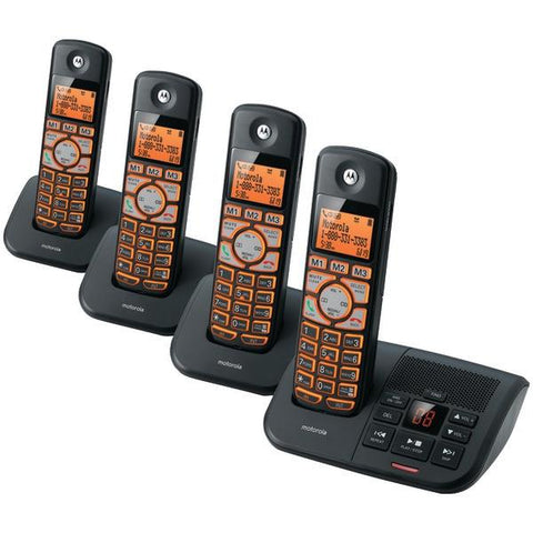 Motorola K704B DECT 6.0 Cordless Phone System with Caller ID & Answering System (4-Handset System) - Peazz.com