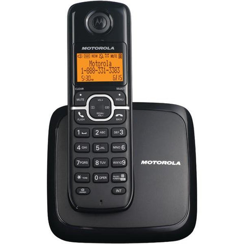 Motorola L601M DECT 6.0 Cordless Phone System with Speakerphone & 3-Line Display (Single-Handset System) - Peazz.com