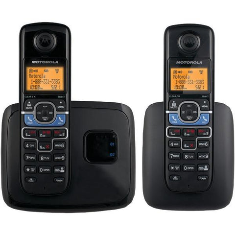 Motorola L702BT DECT 6.0 Cordless Phone System with Bluetooth Link (2-Handset System) - Peazz.com