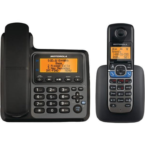 Motorola L702CBT DECT 6.0 Corded/Cordless 2-Handset Phone System with Bluetooth Link - Peazz.com
