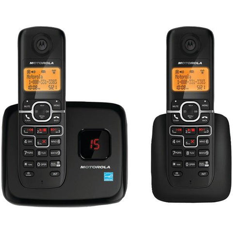 Motorola L702M DECT 6.0 Cordless Phone System with Digital Answering System & Speakerphone (2-Handset system) - Peazz.com
