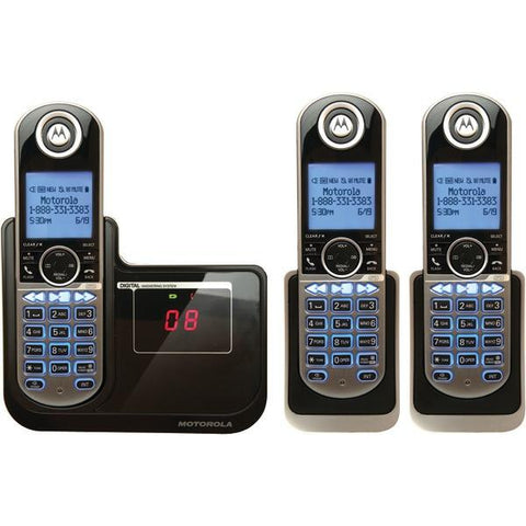 Motorola P1003 DECT 6.0 Cordless Phone System with Caller ID & Answering System (3-Handset System) - Peazz.com