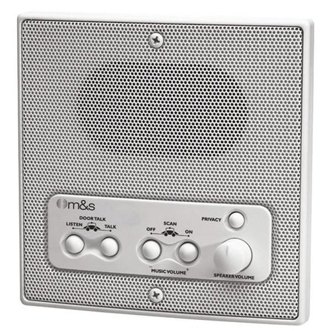 M&S Systems DMC1RW Weather-Resistant Remote Station Speaker (White) - Peazz.com