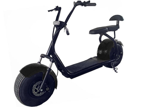 MotoTec MT-Commuter-1000-Black Commuter 1000w Lithium Electric Scooter Black