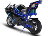MotoTec MT-Elec-GP-Blue Electric Pocket Bike GP 36v 500w Blue