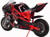MotoTec MT-Gas-GT-Red Gas Pocket Bike GT 49cc 2-stroke Red