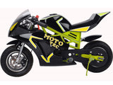 MotoTec MT-Gas-GT-Yellow Gas Pocket Bike GT 49cc 2-stroke Yellow