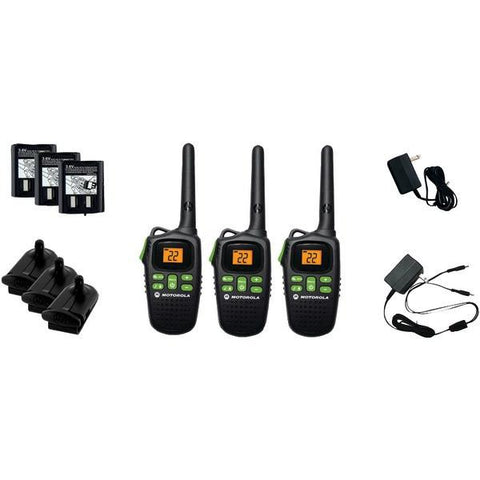 Motorola Talkabout MD200TPR 20-Mile Talkabout 2-Way Radio Triple Pack with Accessories - Peazz.com