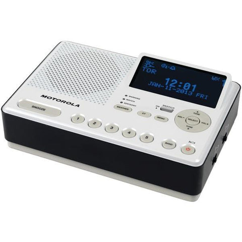 MOTOROLA MWR839 Desktop AM/FM Weather Radio - Peazz.com