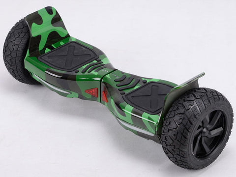 MotoTec MT-SBS-Offroad-85-GreenCamo Hoverboard Off Road 36v 8.5inch Green Camo