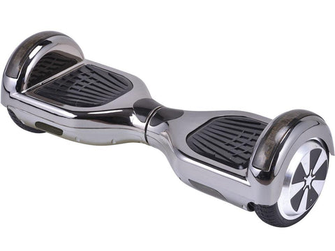 MotoTec MT-SBS-BlackChrome Hoverboard 36v 6.5inch Black Chrome (Bluetooth)