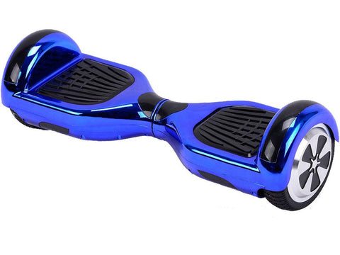 MotoTec MT-SBS-BlueChrome Hoverboard 36v 6.5inch Blue Chrome (Bluetooth)