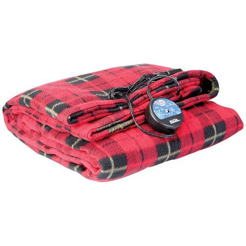 MAXSA Innovations 20014 Comfy Cruise Heated Travel Blanket (Red Plaid) - Peazz.com