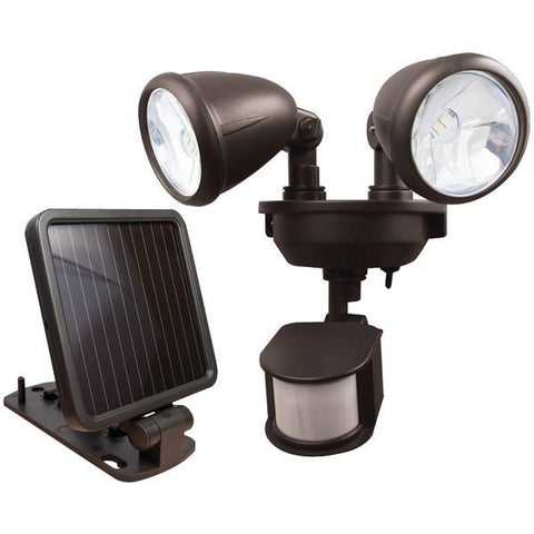 MAXSA Innovations 44216 Dual-Head Solar Spotlight (Dark Bronze) - Peazz.com