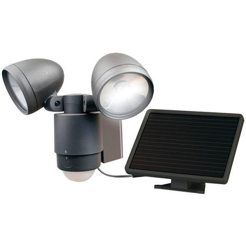 MAXSA Innovations 44416 Bright Dual-Head Solar Security Light (Dark Bronze) - Peazz.com