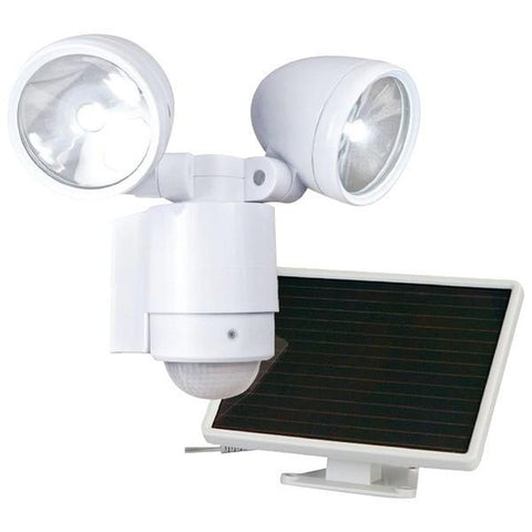 MAXSA Innovations 44418 Bright Dual-Head Solar Security Light (White) - Peazz.com