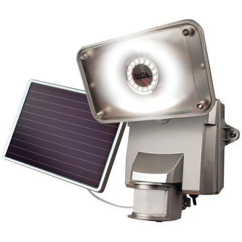 MAXSA Innovations 44640 Motion-Activated Solar LED Security Flood Light (Silver) - Peazz.com