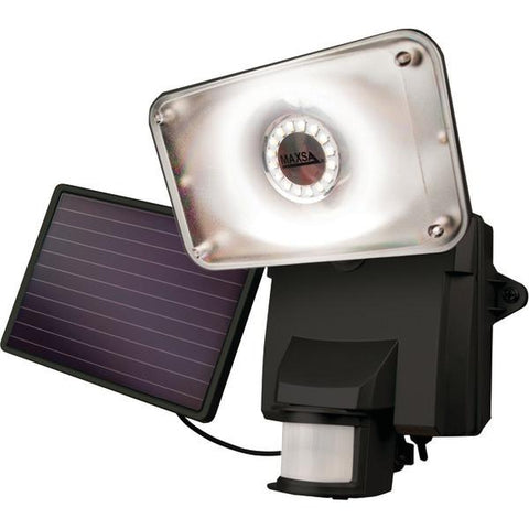 MAXSA Innovations 44641 Motion-Activated Solar LED Security Flood Light (Black) - Peazz.com