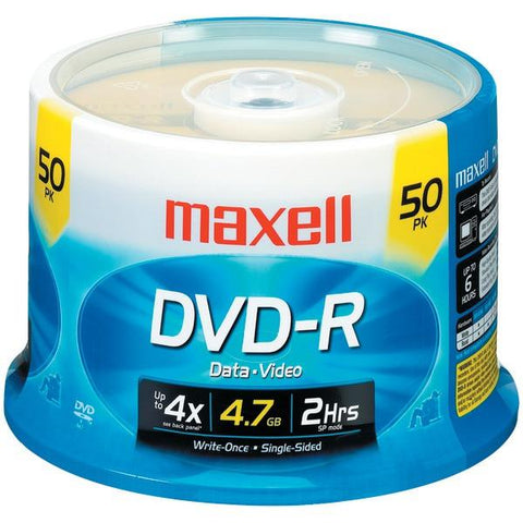 Maxell 635053/638011 4.7GB 120-Minute DVD-Rs (50-ct Spindle) - Peazz.com