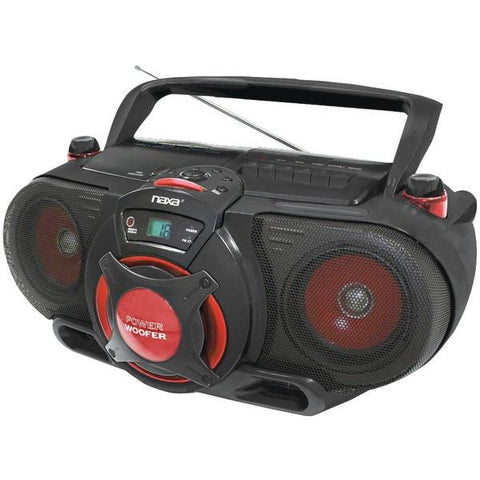 Naxa NPB259 Portable CD/MP3 & Cassette Player & AM/FM Radio with Subwoofer - Peazz.com
