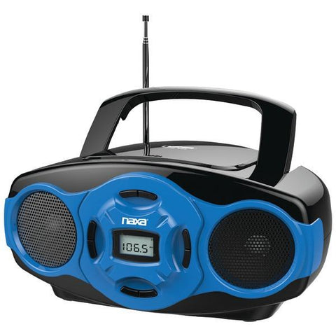 Naxa NPB-264 BL Portable CD/MP3 Mini Boom Boxes & USB Player (Blue) - Peazz.com
