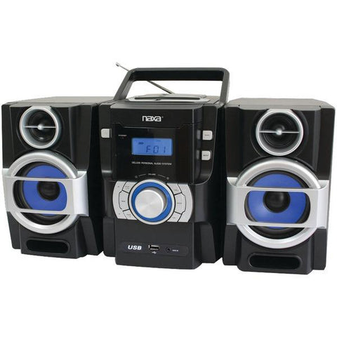 Naxa NPB429 Portable CD/MP3 Player with PLL FM Radio, Detachable Speakers & Remote - Peazz.com