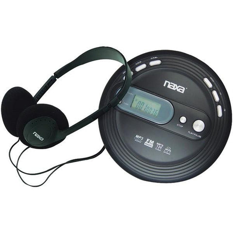 Naxa NPC330 Slim Personal CD/MP3 Player with FM Radio - Peazz.com