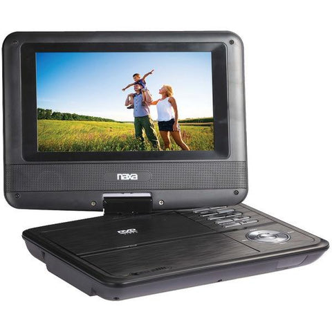 "Naxa NPD703 7"" TFT LCD Swivel-Screen Portable DVD Player - Peazz.com"