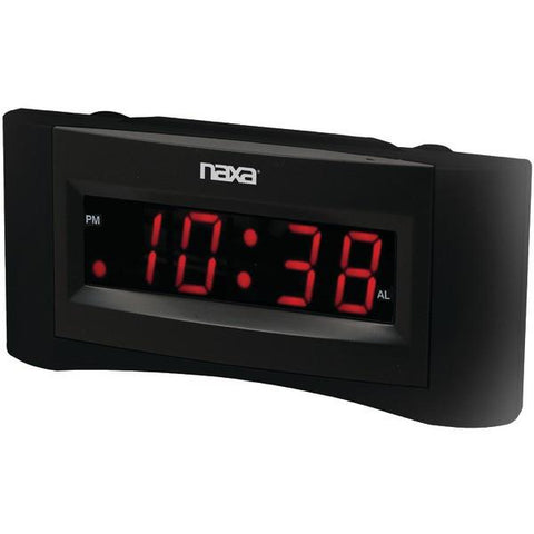 Naxa NRC-165 Easy-to-Read Dual Alarm Clock with USB Charger - Peazz.com